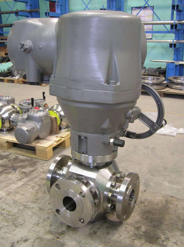 Actuated 3-way valve