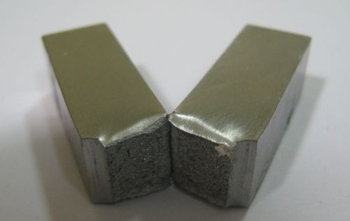 Impact testing (sample material after testing)