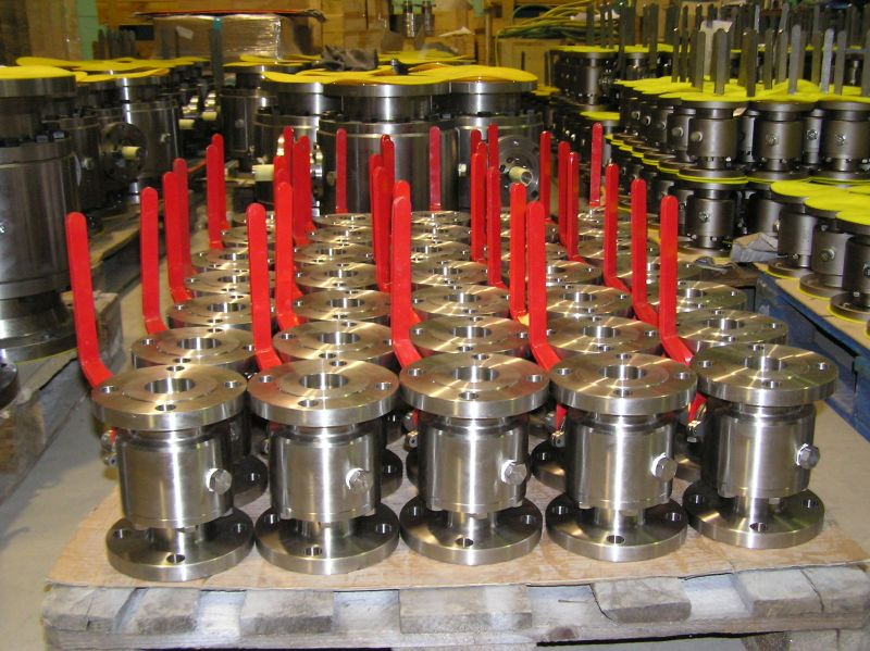 Carbon steel and stainless steel floating ball valves stock