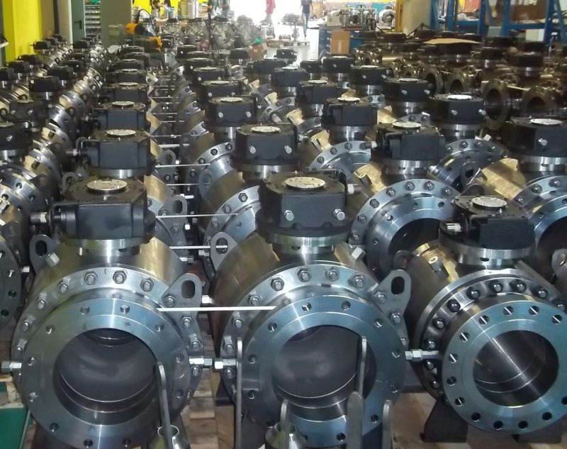Gear Operated trunnion mounted ball valves for low pressure pipeline