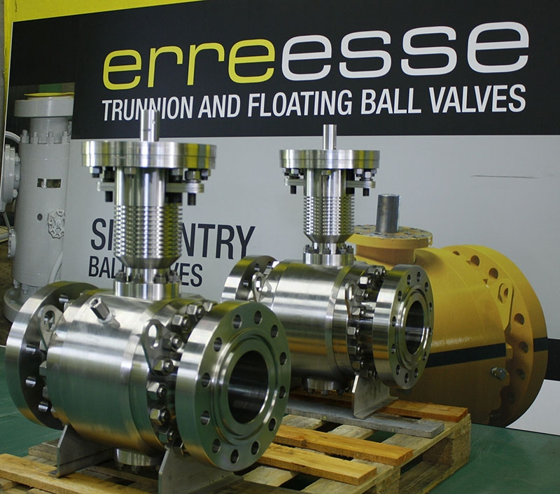 High temperature trunnion ball valve +560°C