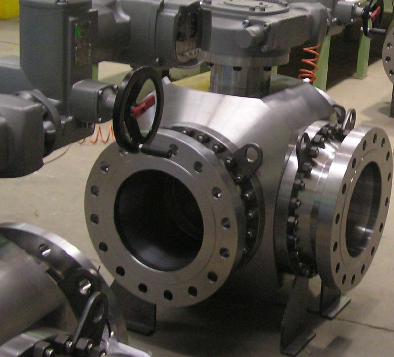 Mixing ball valves 3-way trunnion mounted