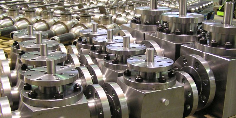Top entry carbon steel ball valves