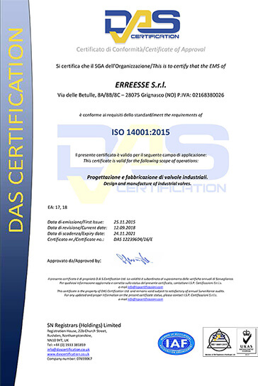 ISO 14001 Environmental Management System Erreesse